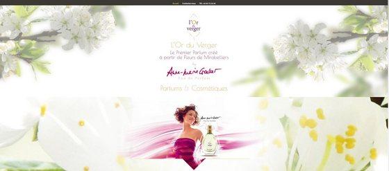 Découvrir le nouveau site pour les parfums et cosmétiques l'Or du Verger